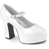 MARYJANE-50X Wide White Patent